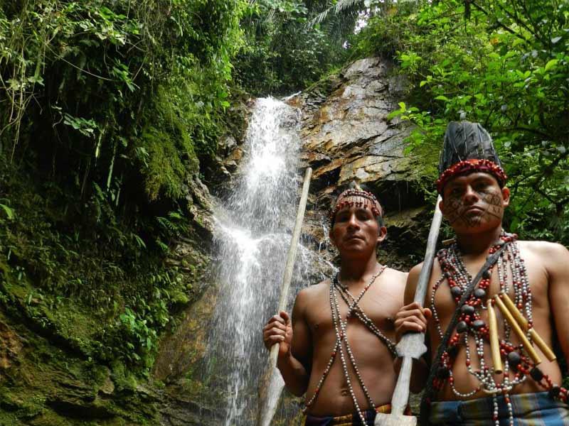 Amazon natives in Ecuador