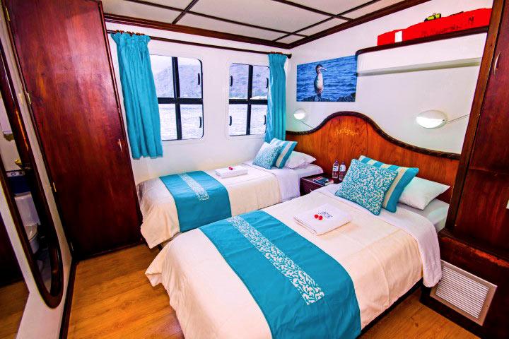 Twin cabin in archipell II cruise galapagos 2019