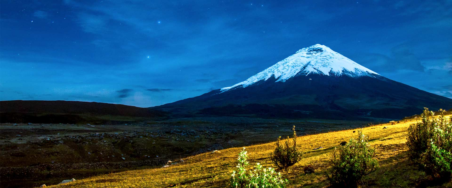 Cotopaxi panoramic view