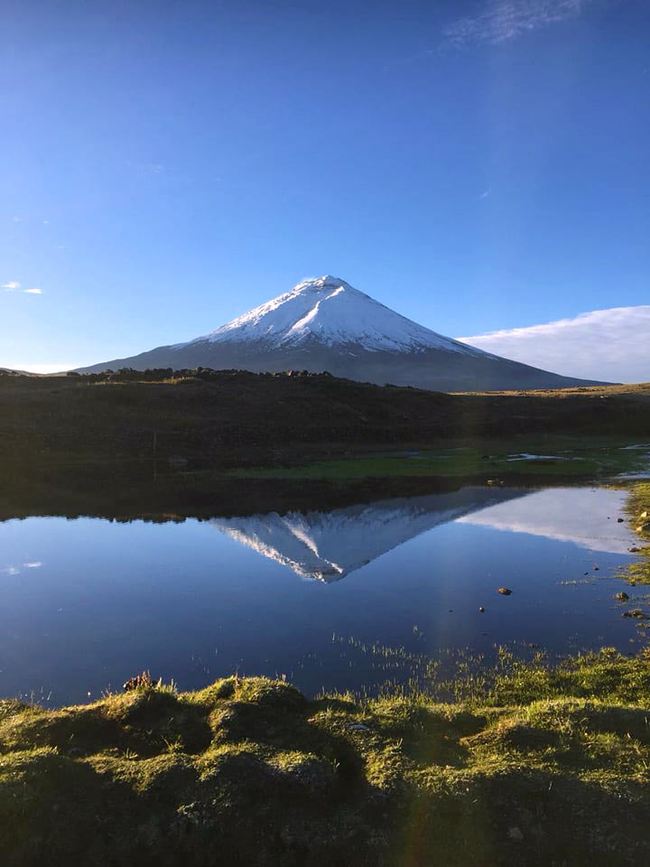 Cotopaxi and lagoon photo