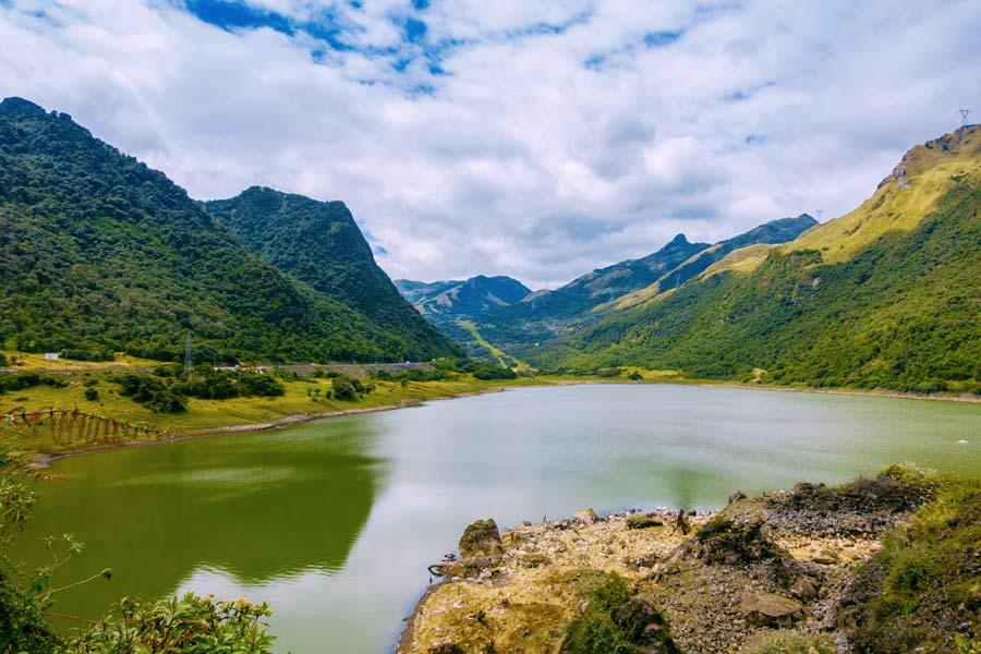 Papallacta thermal lagoon in ecuador