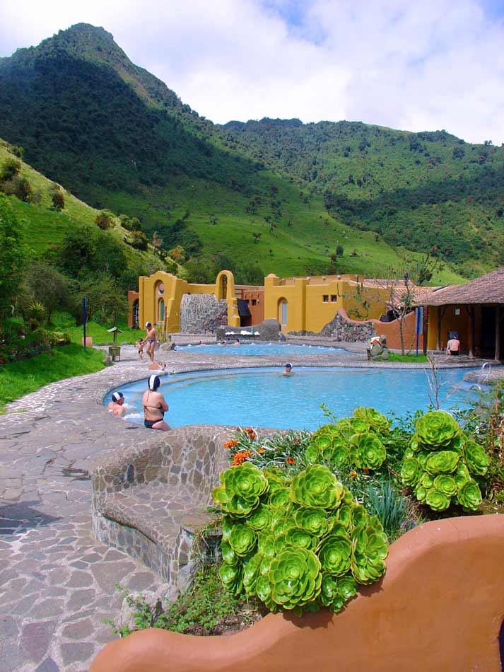 Pool at the papallacta thermal springs