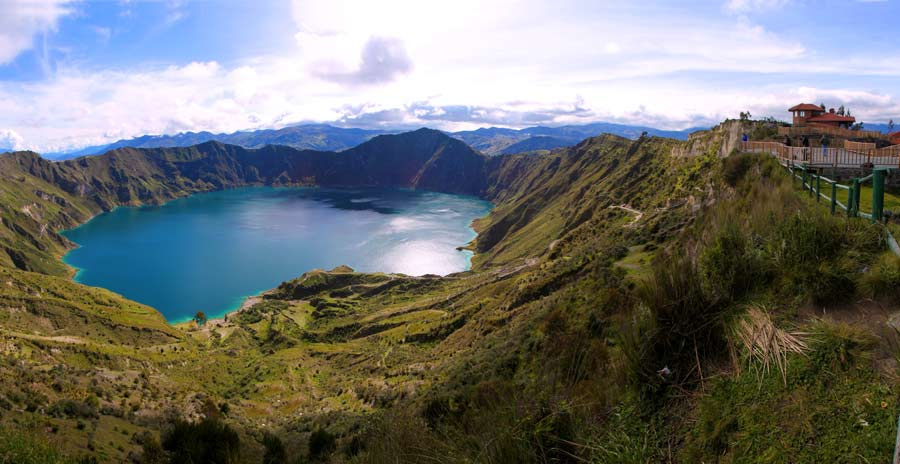 Quilotoa lagoon panoramic view