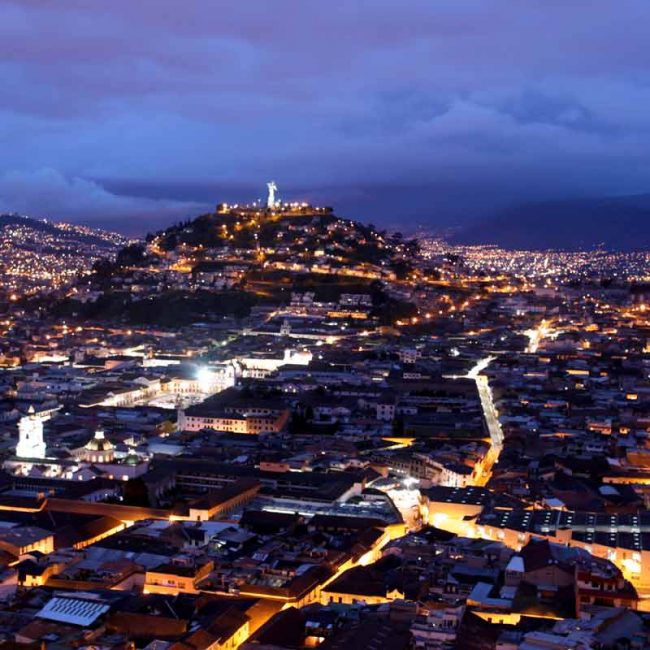 Quito at night panoramic picture