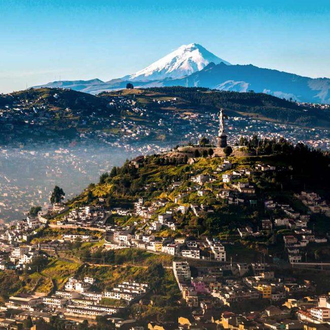 Panecillo in Quito panoramic air
