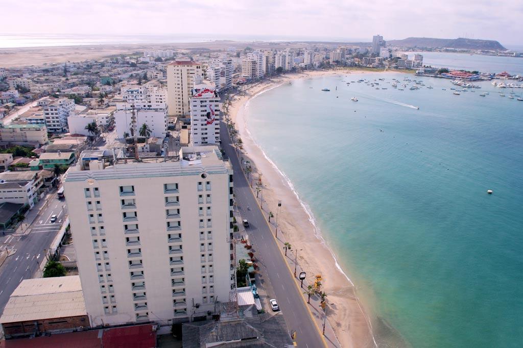 Salinas beach from the air