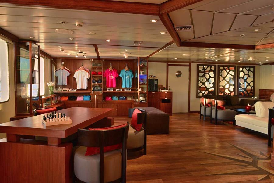 Boutique area in cruise celebrity experience