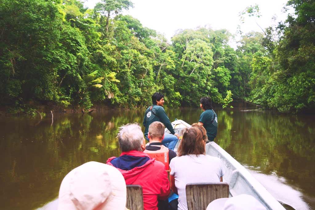 excursion at the cuyabeno rainforest in ecuador