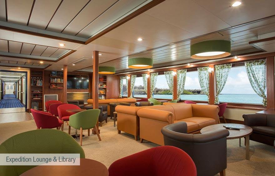 expedition lounge and library at santa cruz ii