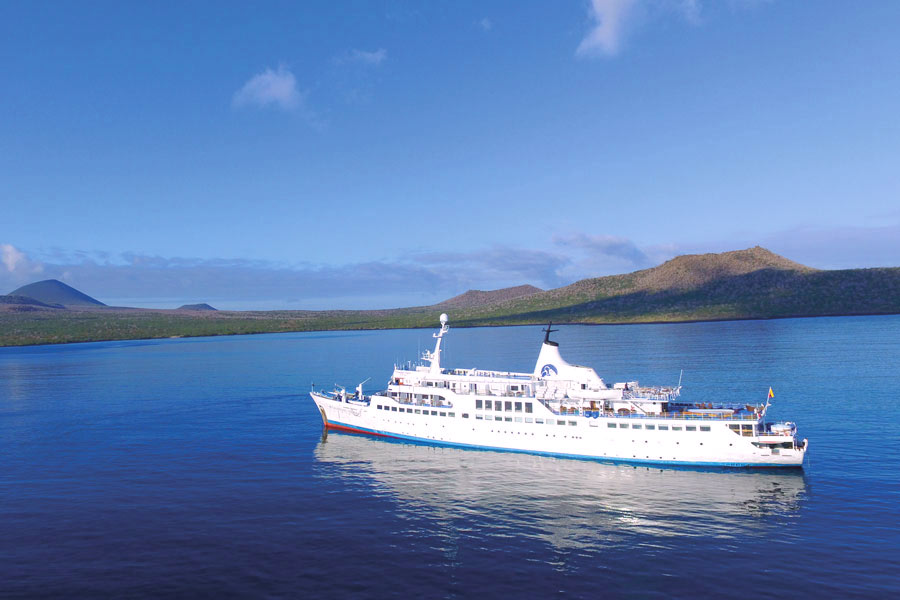 Galapagos legend cruise air view