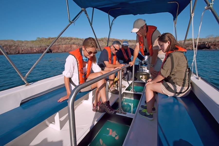 glass bottom boat trip at santa cruise ii cruise