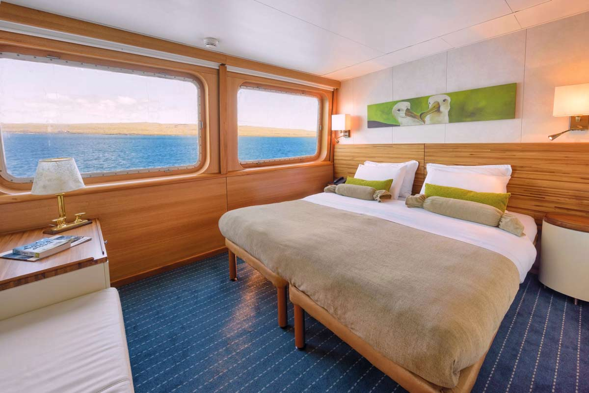 Junior suite view of galapagos legend cruise