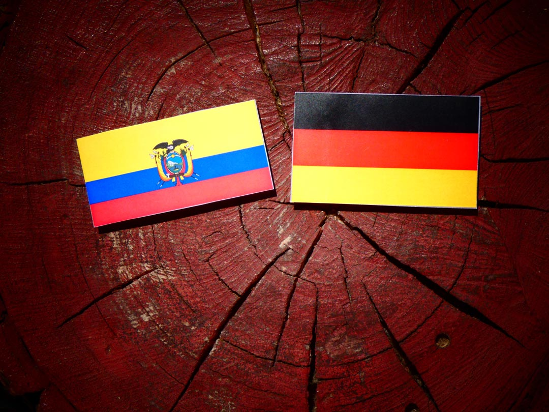 Ecuador - Germany flags