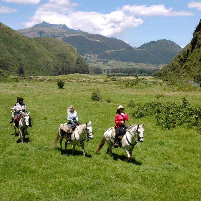 Horse riding in Andes Pululahua travel 2019