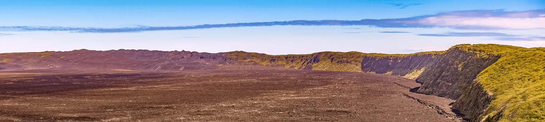 Sierra Negra in Isabela galapagos island panoramic view