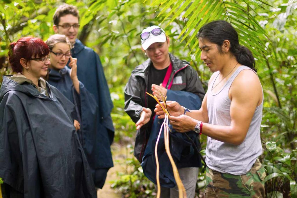 Tour guides in the amazon ecuador