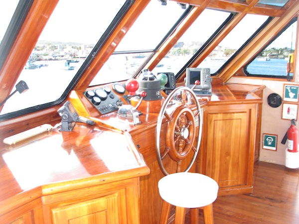 Captain cabin from yacht galapagos
