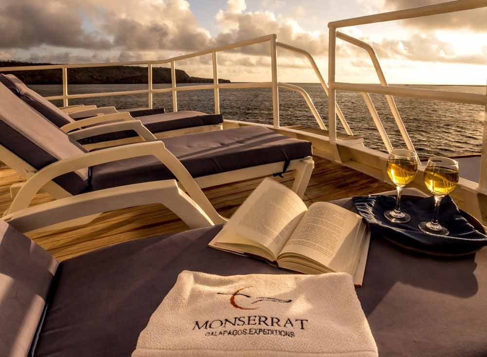 sunset at the sun deck of monserrat cruise